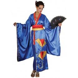 Disfraz Kimono Azul