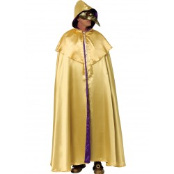 Disfraz Capa Domino Oro