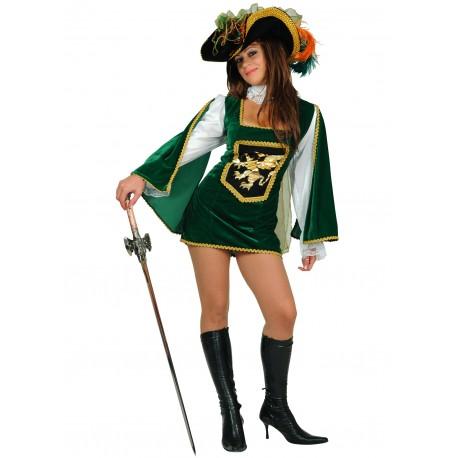 Disfraz Mosquetera Verde Oscuro - Stamco - Chiber - Disfraces Josmen S.L.