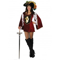 Disfraz Mosquetera Burdeos - Stamco - Chiber - Disfraces Josmen S.L.