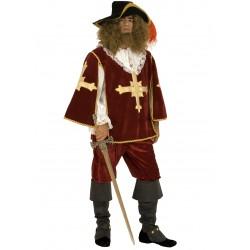 Disfraz Mosquetero Burdeos