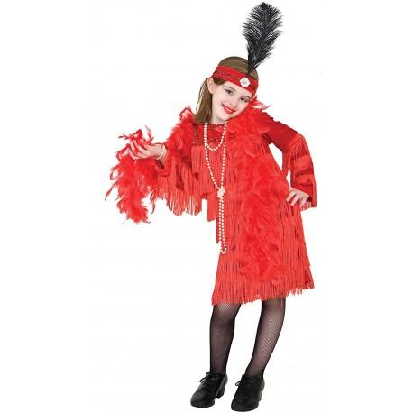 Disfraz de Charlestón Rojo con flecos - Stamco - Chiber - Disfraces Josmen S.L.