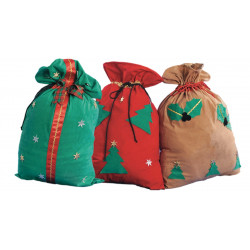 Juego de 3 sacos de Navidad Santa Claus – Saco de regalos, 75 x 55 cm. - Stamco - Chiber - Disfraces Josmen S.L.