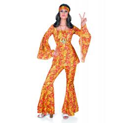 Disfraz Hippy Floreal Naranja - Stamco - Chiber - Disfraces Josmen S.L.