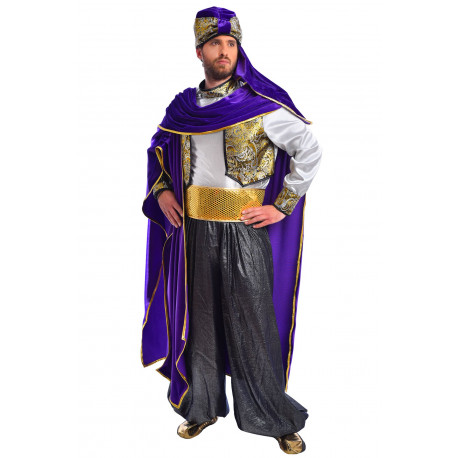 Disfraz Sultán Árabe Morado Deluxe - Stamco - Chiber - Disfraces Josmen S.L.